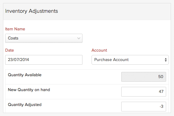 Zoho Books Inventory Management